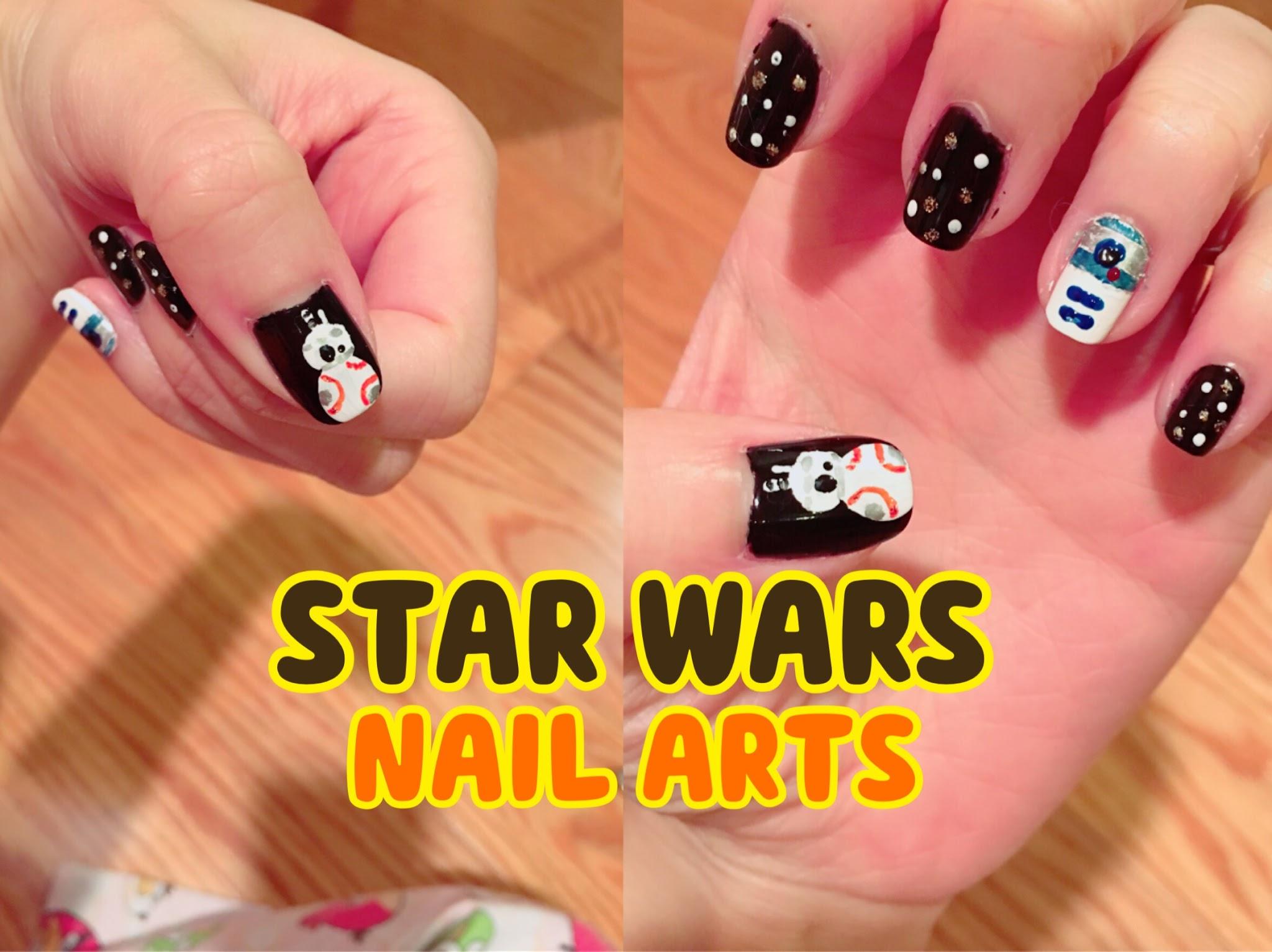 Mokolate Beauty Star Wars Nail Art With Bb 8 And R2 D2 Mokolate