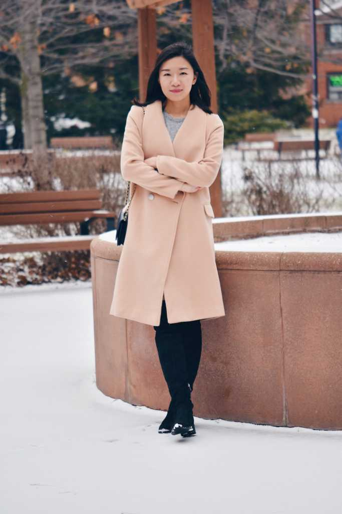 Are you a petite girl looking for beautiful yet elegant coat to complement your closet? Check out the Staten Light tan Coat from Petite Studio NYC!