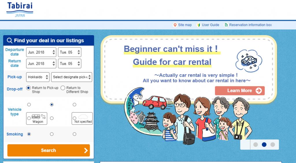 Tabirai Japan Car Rental